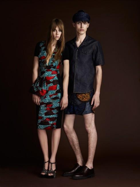 robe fourreau et short pour homme en tissu wax ou tissu pagne africain, collection burberry