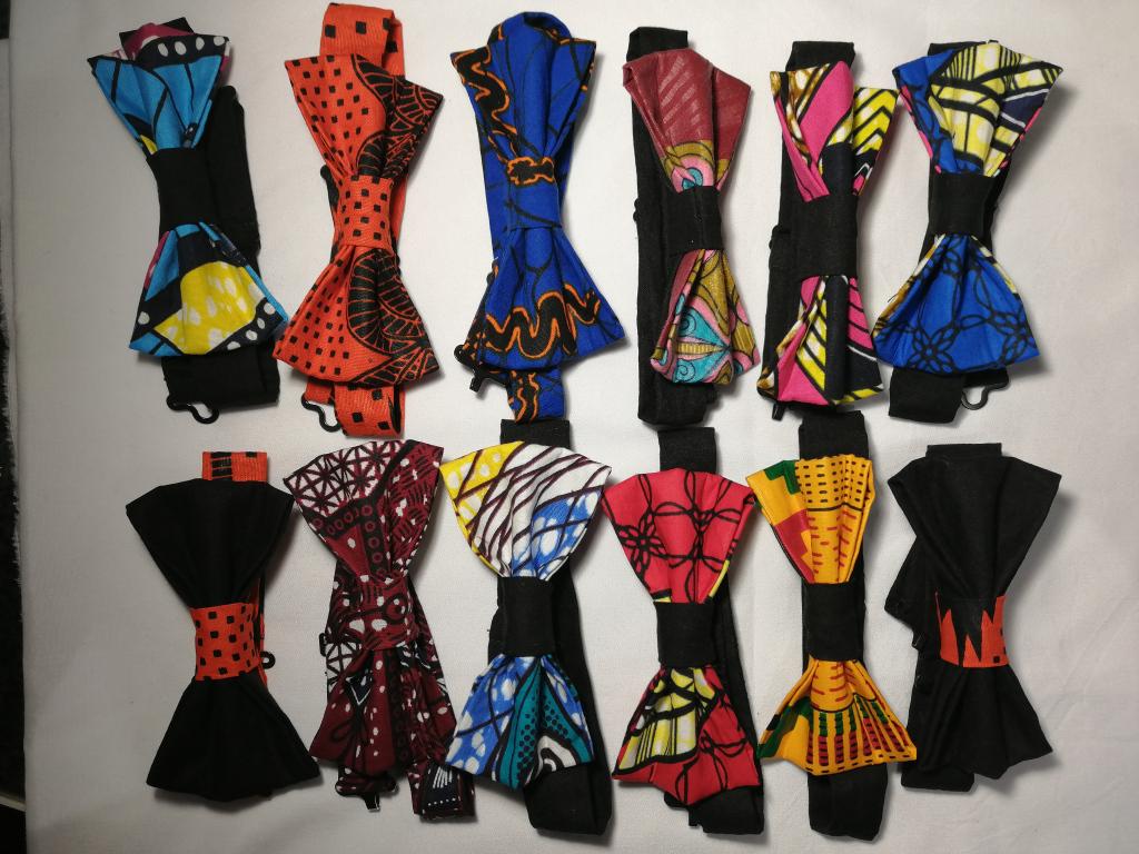 noeuds papillon réglables pour hommes et femmes en tissu wax et tissu coton