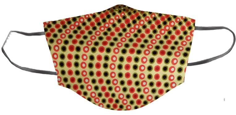masque réutilisable en tissu wax avec élastique derrière les oreilles