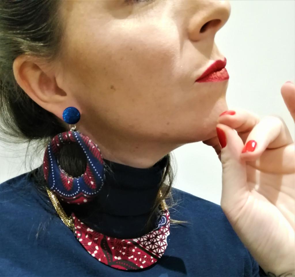 parure de bijoux style ethnique boucles d'oreilles manchettes et collier
