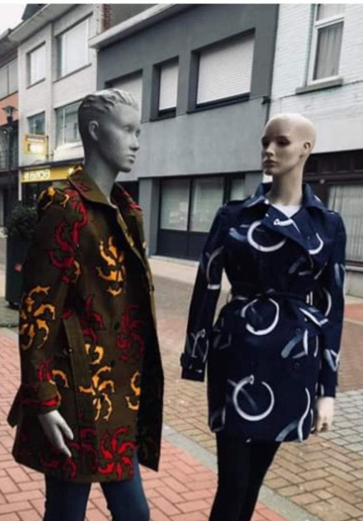 trench et veste en tissu wax ou pagne ethnique africain pour hiver et printemps